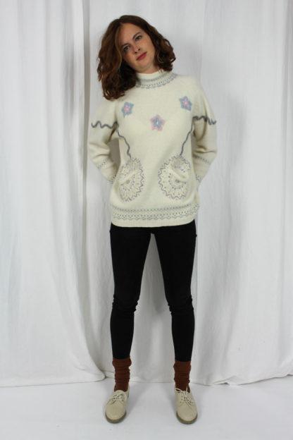 Pullover weiß Second Hand