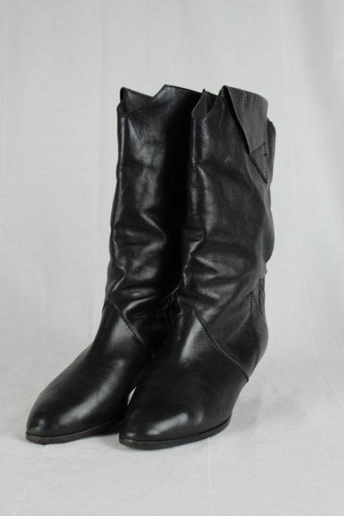 Stiefel glänzend schwarz