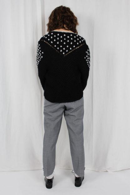 Strickjacke schwarz silber