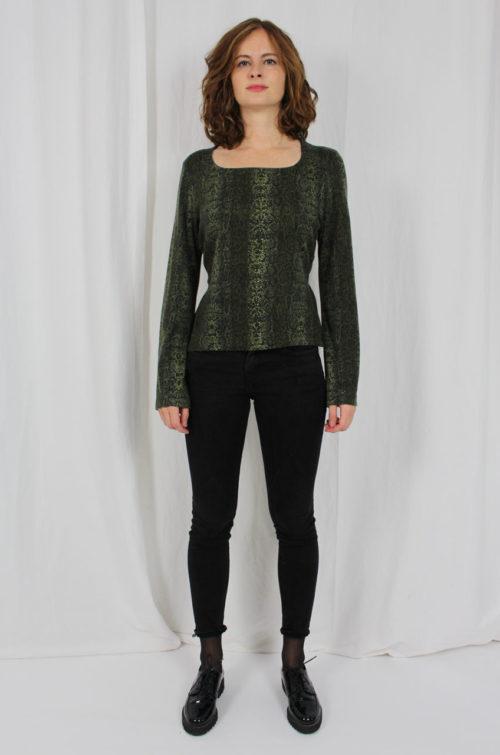 Vintage Damen Pullover Grün