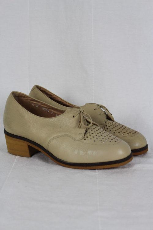 Vintage Halbschuhe beige