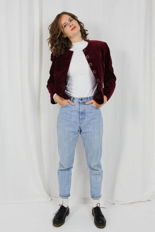Vintage Jacke Damen Burgund