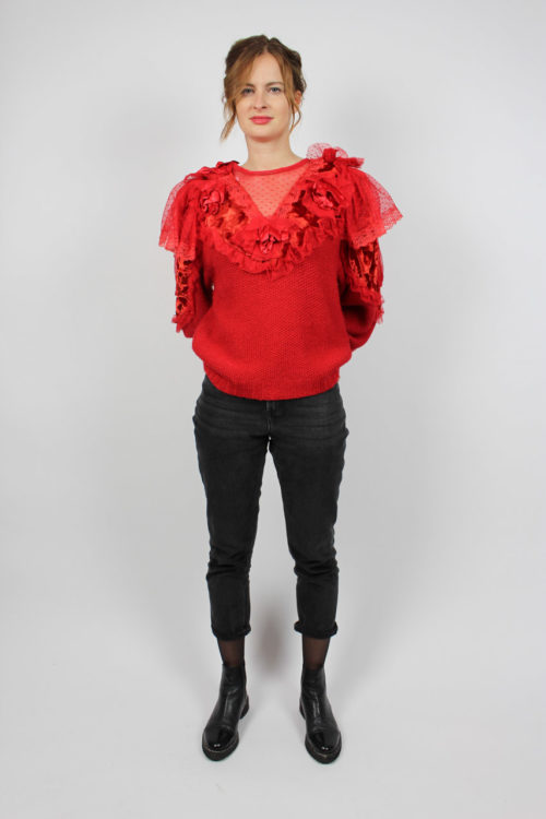 Vintage Pullover Rot