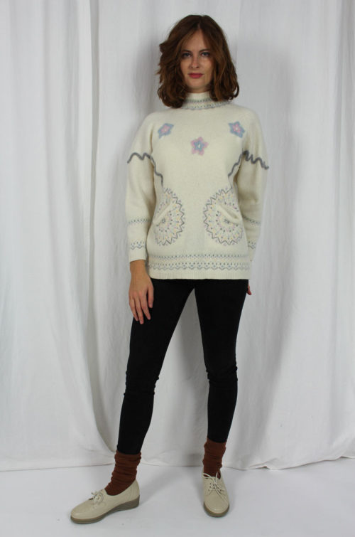 Vintage Strickpullover Turtleneck