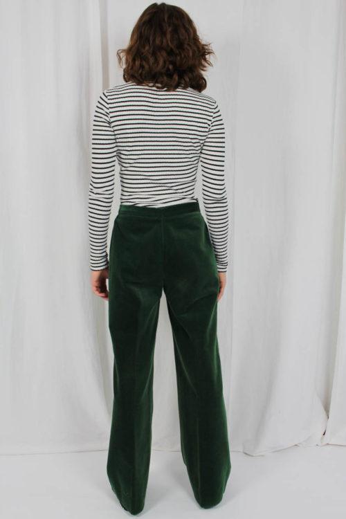 grüne Hose samt Online kaufen