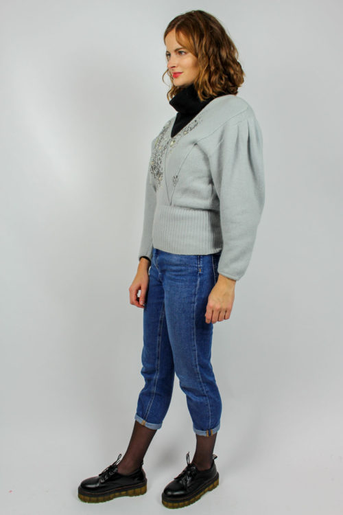 grauer Pullover Secondhand