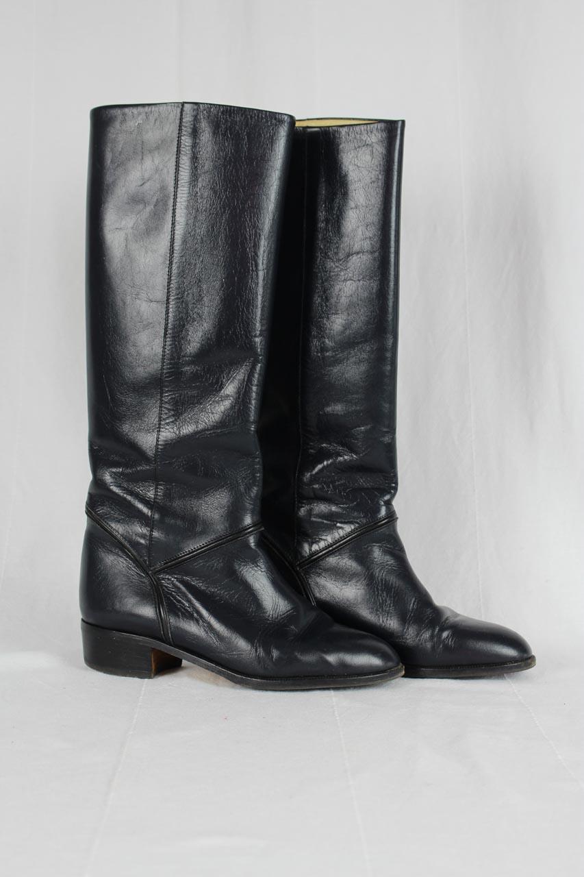 Andere Marke Stiefel aus Leder in Schwarz Second Hand