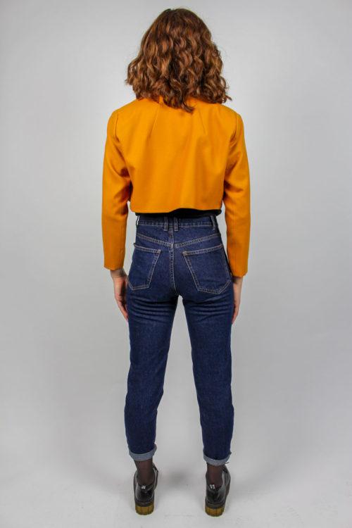 Blazer orange schwarzes Muster