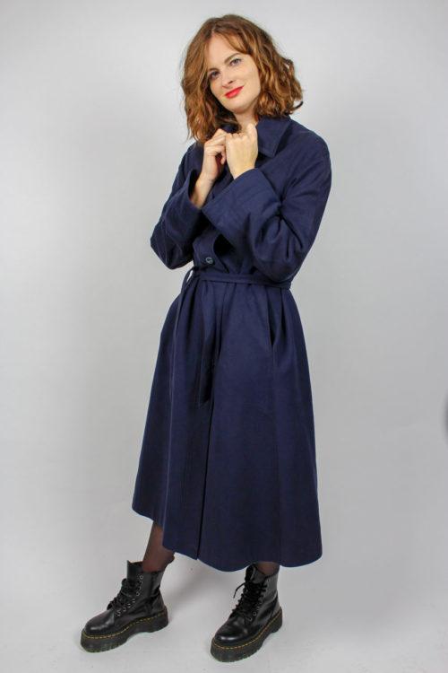 Damenmantel blau