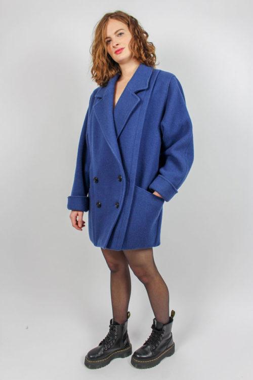 Jacke blau Reverskragen