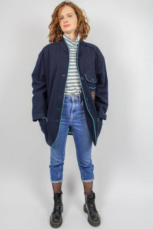 Jacke blau mit Taschen