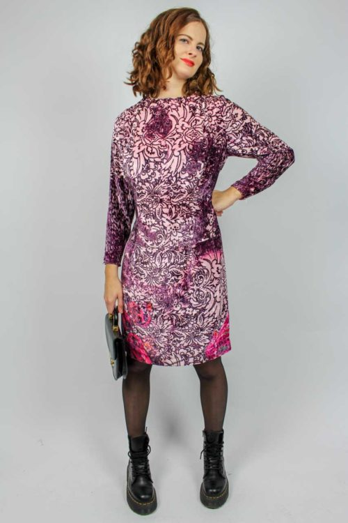Kleid flauschig lila