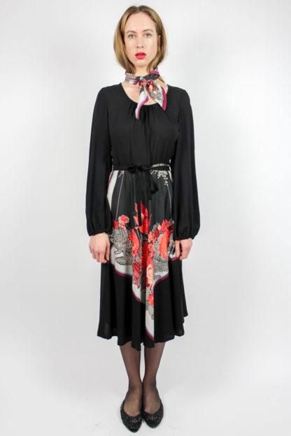 Kleid schwarz Blumenmuster