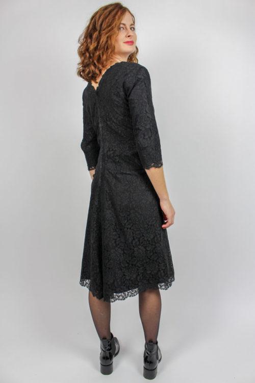 Kleid schwarz Midi