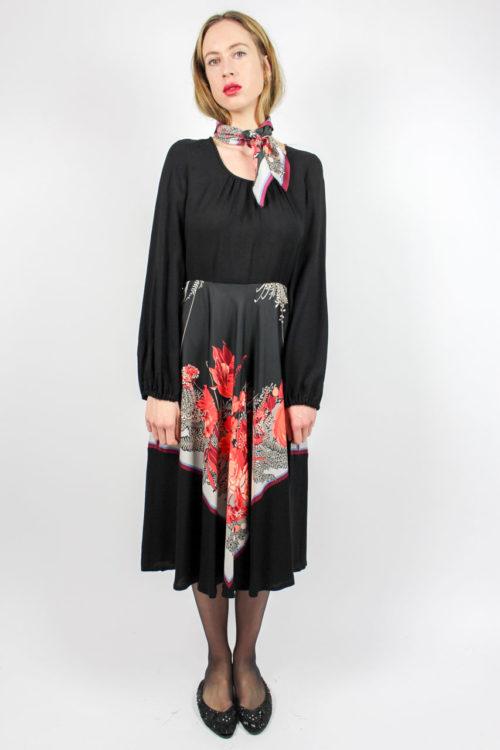 Kleid schwarz Puffärmel