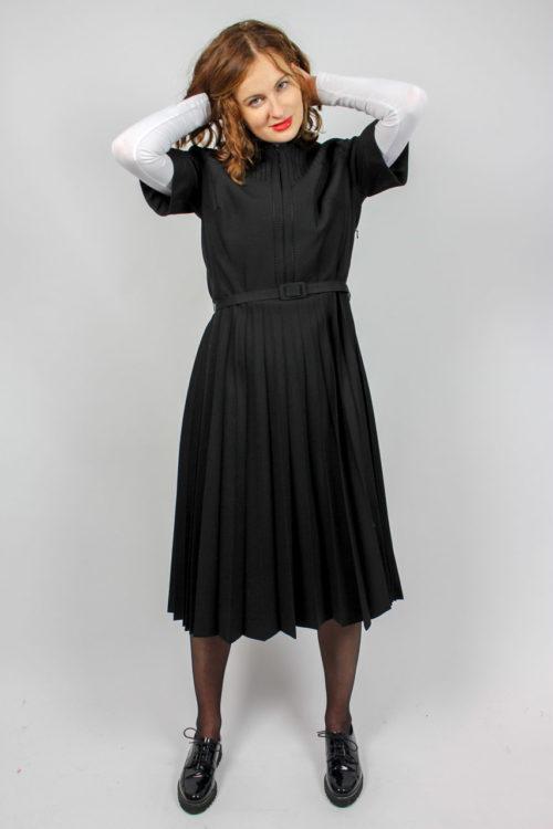 Kleid schwarz Ziernaht