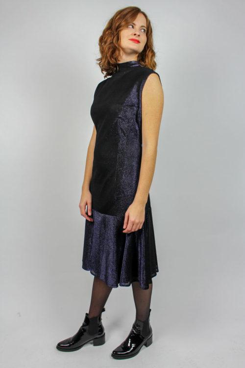 Kleid schwarz blau