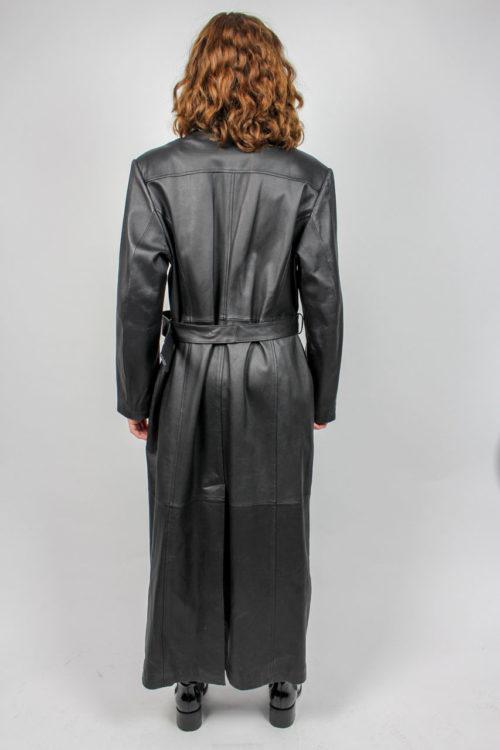 Ledermantel Damen schwarz