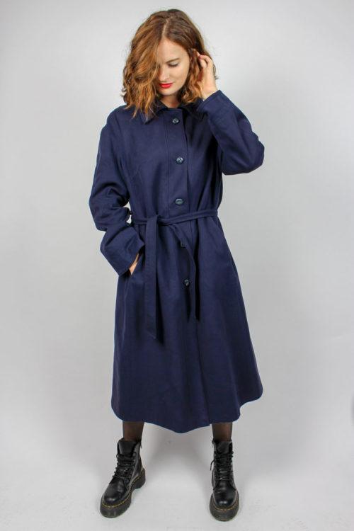 Mantel blau midi