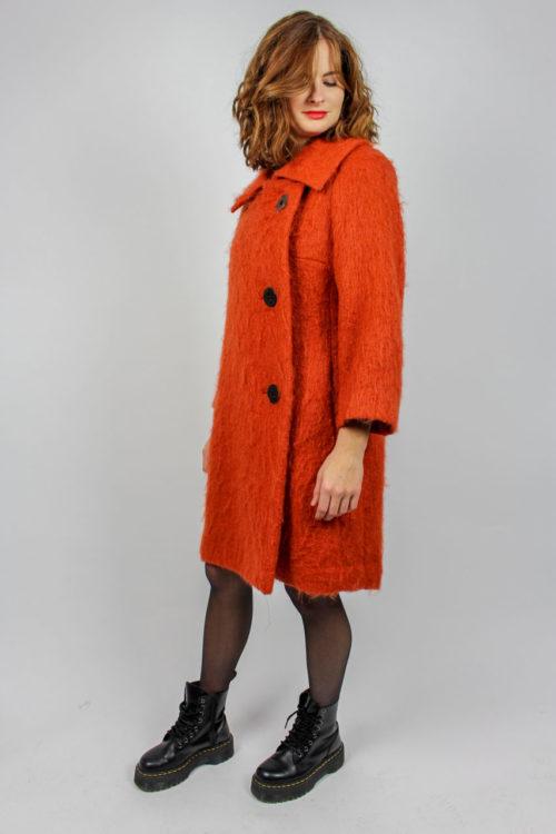 Mantel midi orange