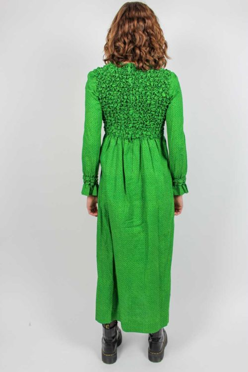 Maxikleid grün 70er Jahre