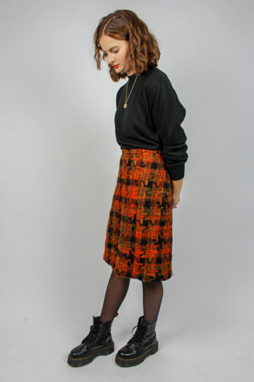Midirock schwarz orange
