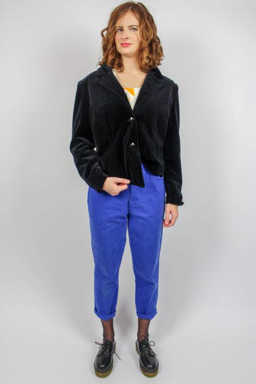 Mom-Jeans blau Taschen