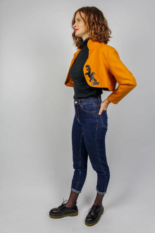 Orangener Blazer Secondhand