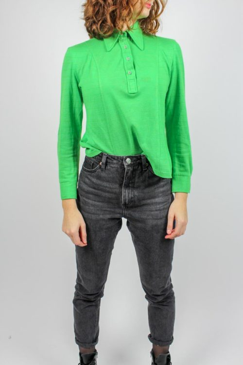 Poloshirt grün langarm