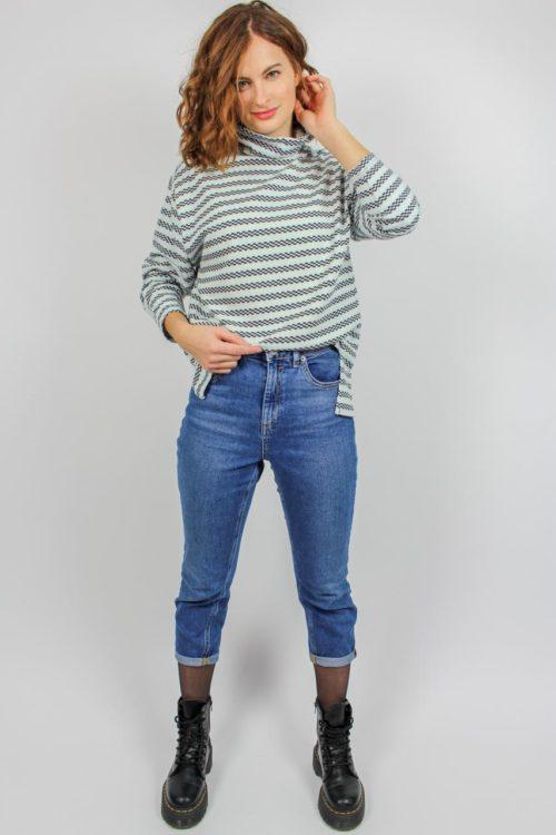 Pullover langarm blau