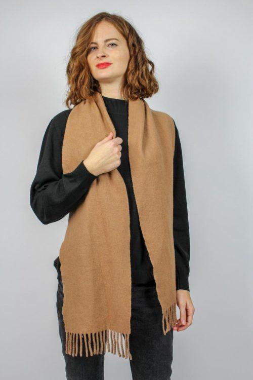 Schal beige lang