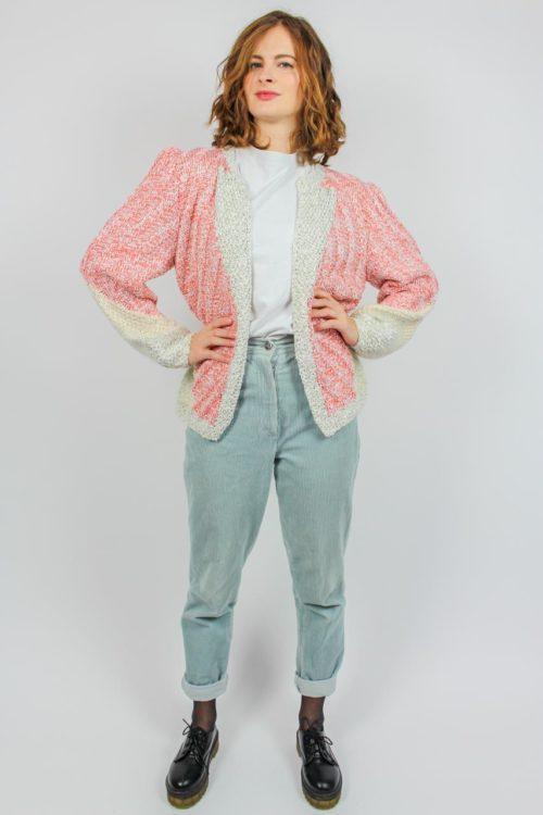 Strickjacke rosa Glitzer