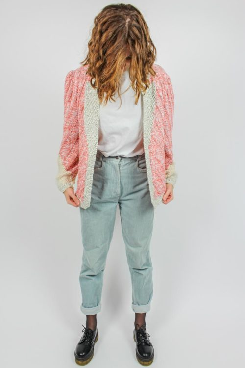 Strickjacke rosa silber