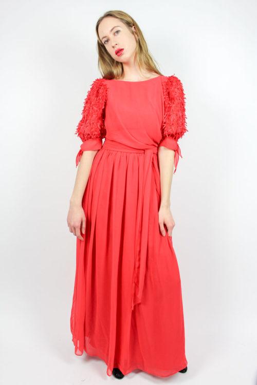 Vintage Abendkleid rot