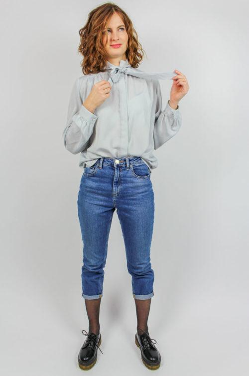 Vintage Bluse grau