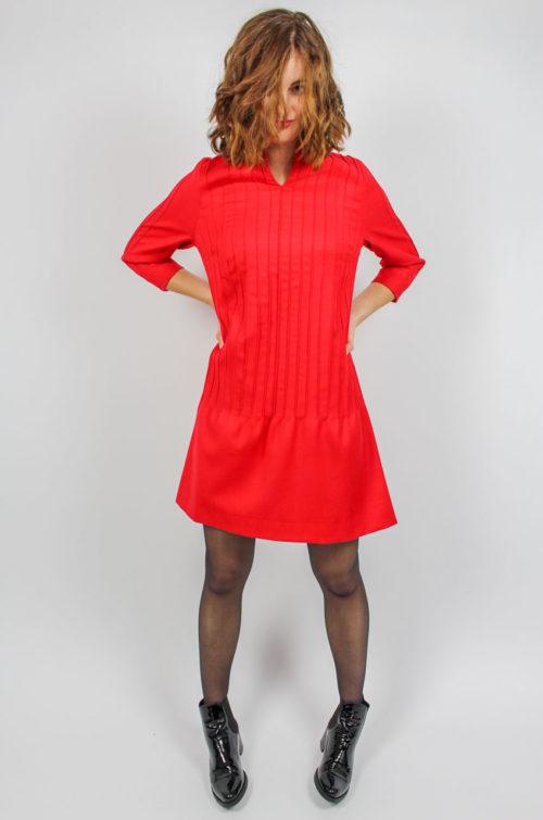 Vintage Kleid hellrot