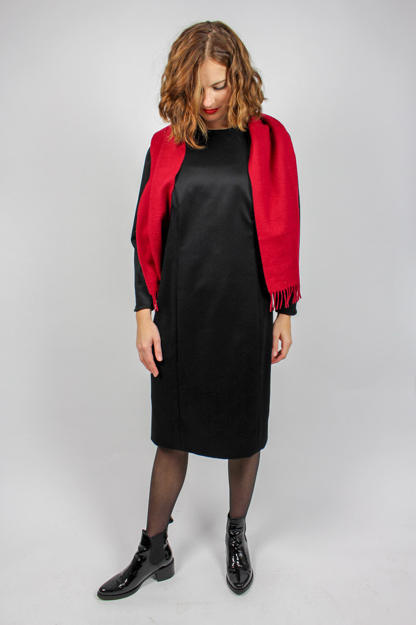 "Schwarzes Kleid Puffärmel ""Amelie"" | Oma Klara"