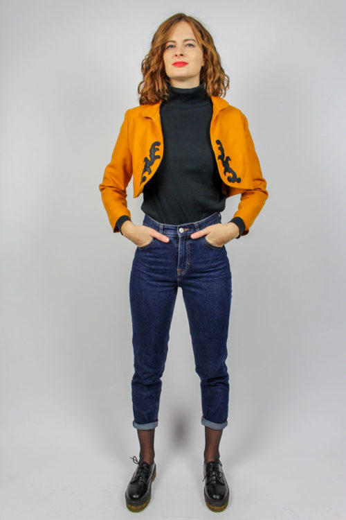 Vintage Kurzblazer orange