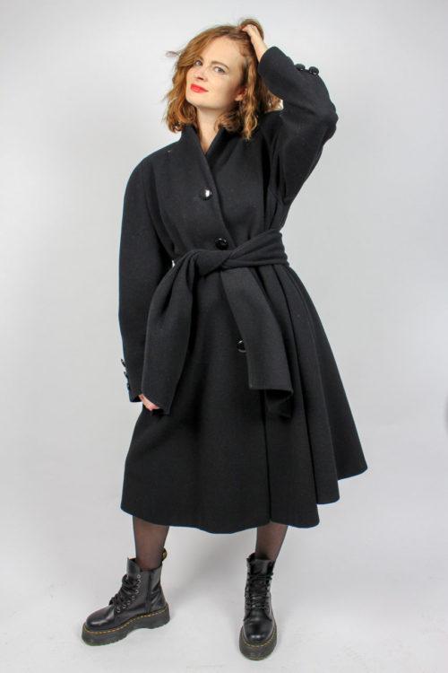 Vintage Mantel schwarz