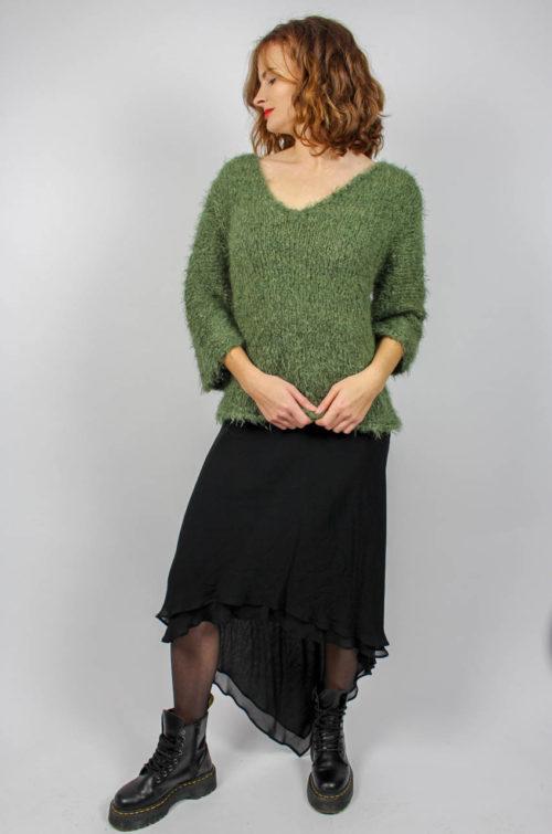 Vintage Pullover grün