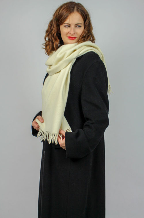 Vintage Schal weiß