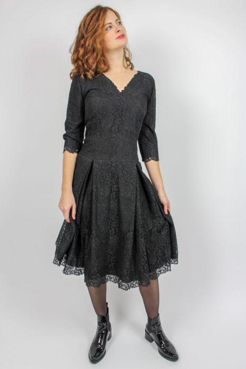 Vintage Spitzenkleid schwarz