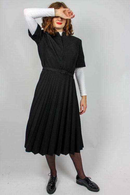 Vintagekleid schwarz