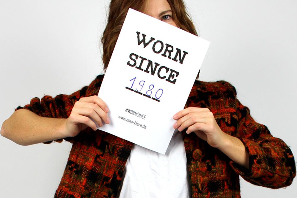 WORN SINCE - Die Slow-Fashion Kampagne von Oma Klara