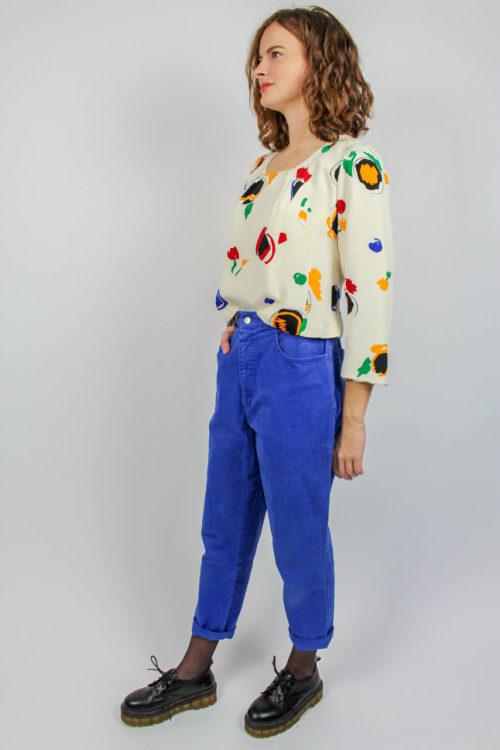cremefarbene Bluse Secondhand
