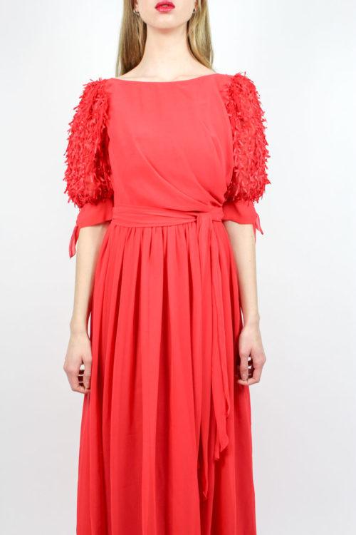 rotes Abendkleid Maxi