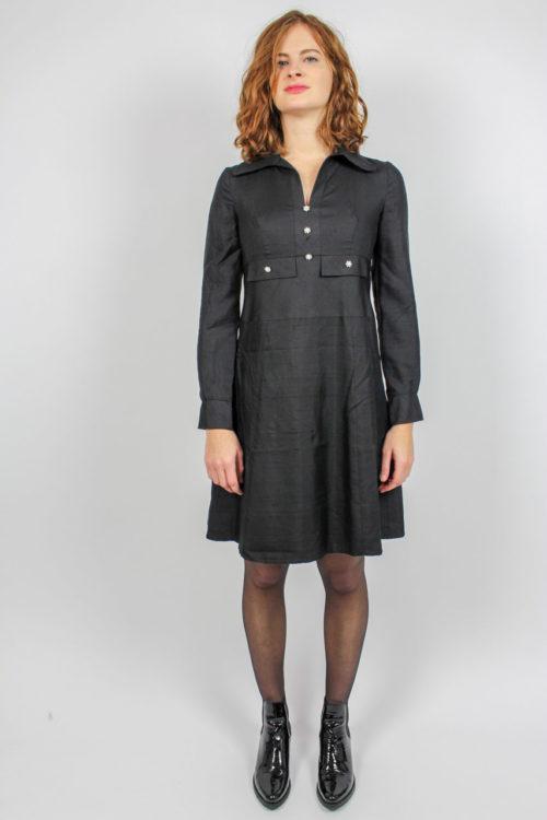 schwarzes Kleid 60er Secondhand