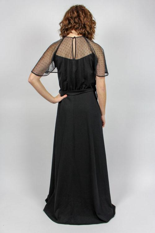Abendkleid maxi schwarz