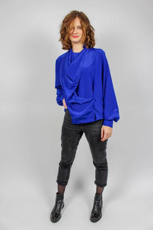 Blaue Bluse Secondhand