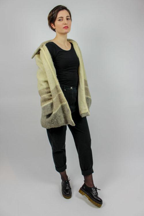 Cardigan aus Wolle Beige